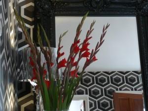 Fabulous monochromatic hexagonal wallpaper