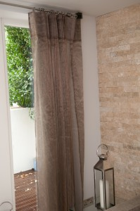 This stunning voile is woven with copper threads!!